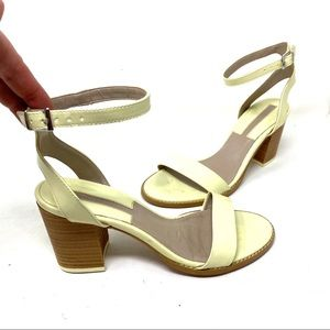 Zara collection like green ankle strap sandals 38